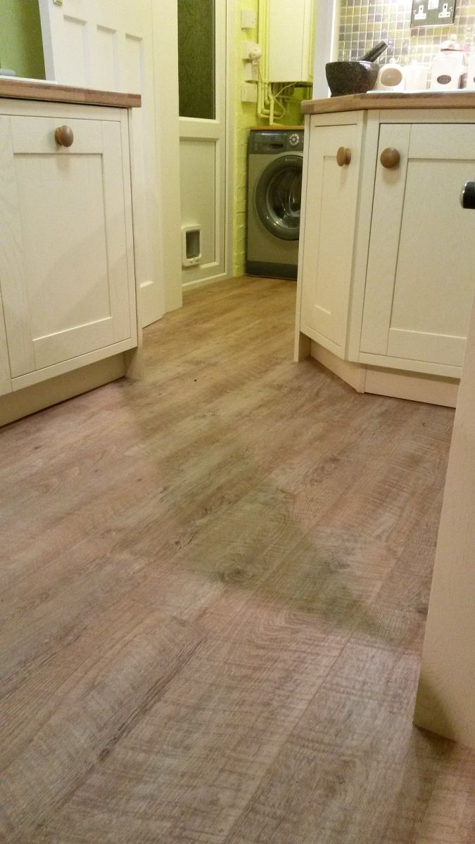 finished LVT flooring